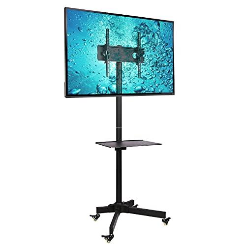 Ergosolid Regolabile Supporto da Pavimento, con Ruote per Televisori LCD LED da 32-55 Pollici (diagonale 81 cm - 140 cm), con Una Capacità di Carico di 25 kg, Max VESA 400 x 400