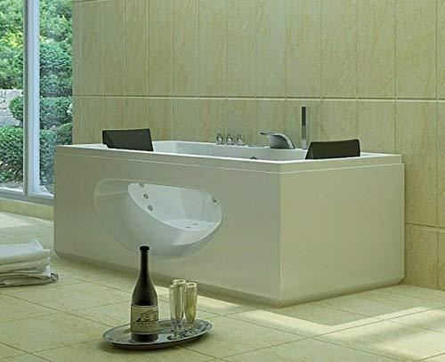 Luxus LED Whirlpool Badewanne SET 180x90cm +Heizung+Hydrojet+Ozon +Radio 2021