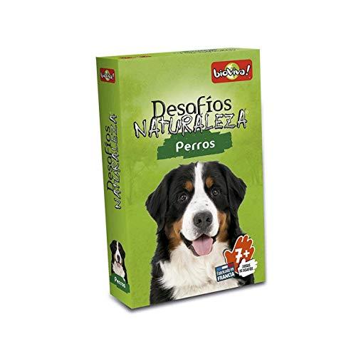 Bioviva- Desafios Naturaleza: Perros - Juego de cartas - Español (DES12ES) , color/modelo surtido