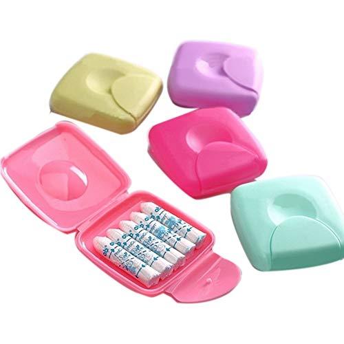 Tampons Aufbewahrung Portabel Box Damen Tampons Aufbewahrungsbox Halter für Reisen Außen Farbe Zufällige