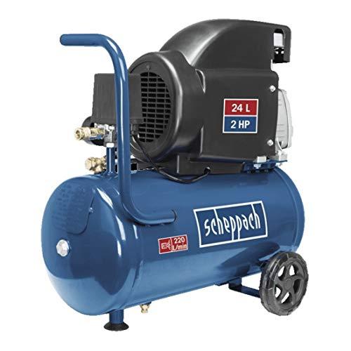 SCHEPPACH HC26 Druckluft Kompressor 8 bar | 1,5 kW | 24 Liter | Spannung: 230 V | 1500 W