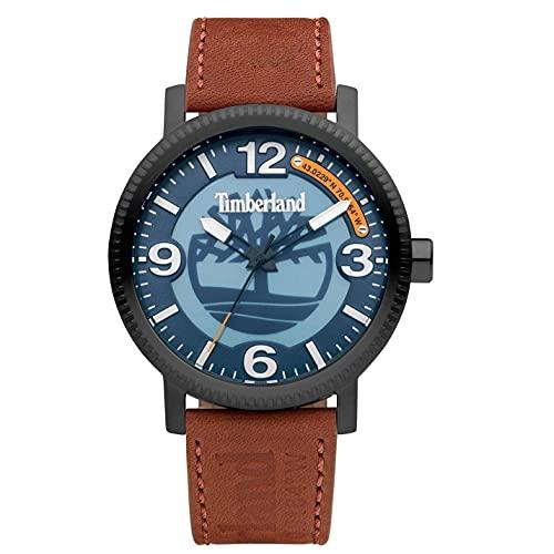 Timberland Reloj Analógico para Hombre de Cuarzo con Correa en Cuero TDWGA2101503