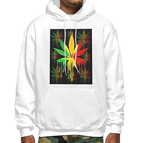 Sudadera con capucha unisex 3D con estampado gráfico, diseño de hojas de marihuana