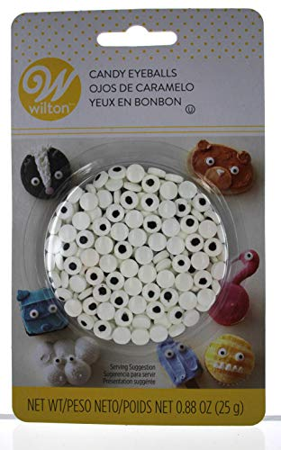 Wilton 710-7236 Mini Candy Eyeballs, 24 Count