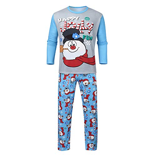 Pijamas De Navidad Familia Conjunto Pantalon Y Top Pijamas Mujeres Hombre Invierno Manga Larga Navideños Pijama Dos Piezas Niños Niña Ropa Conjunto De Pijama De Muñeco De Nieve Navideño (Baba,L)