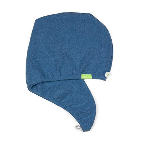 AQUIS - Turbante de pelo original, patentado perfecto manos libres de microfibra para el cabello (10 x 29 pulgadas, cascada)