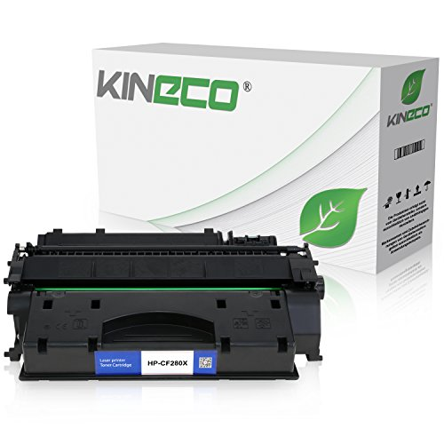 Kineco Toner kompatibel mit HP CF280X Laserjet Pro 400 M401dn, M401dw, MFP M425dn, M425dw - Schwarz 6.900 Seiten
