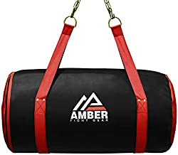 Amber Fight Gear Synthetic Leather Uppercut Bag for Boxing MMA Muay Thai Fitness Workout Training Punching Heavy Bag Unfilled Empty Without Filling