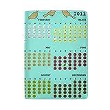 Reisepasshülle, Geldbörse für 2011 kleine Vögel, Kalender