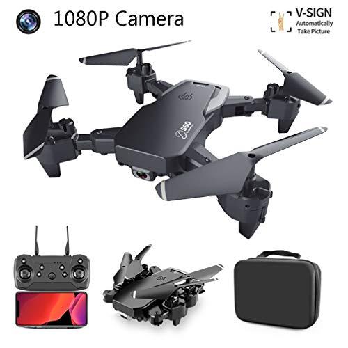 SBUNA Drone RC Cuadricóptero con Cámara 1080P Full HD, FPV Video en Vivo Gesto Fotos Flip Sígueme Vuelve a Casa Automáticamente Larga Duracion de Batería, para Adultos Principiantes