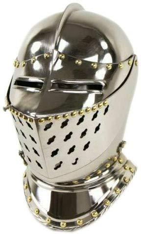 Medieval Armour Chrome Finish Helmet | Battle Ready Warrior Helmet | LARP Steel Helmet
