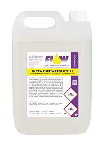FLOW QUIMICA Ultra Pure Water GT2 RS Agua Ultra Pura DESTILADA DESIONIZADA DESMINERALIZADA 5L