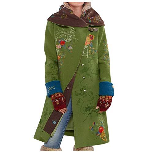 PPangUDing Wintermantel Damen Warme Wasserdicht Windbreaker mit Reißverschluss Winterparka Übergangs Parka Mantel Winterjacke Funktionsjacke Outdoorjacke Cardigan Outwear