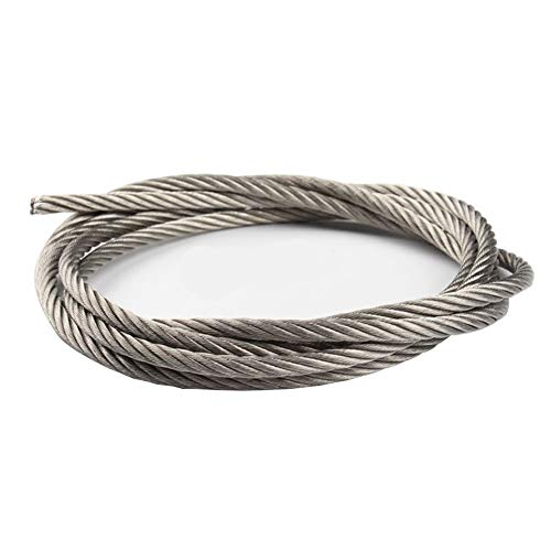 ステンレスロープ4.0mm 30m構成7×7(SUS304)ステンレスワイヤロープ 軟らかい 耐錆性に優れ 配線 漁業 林業 DIY 柵