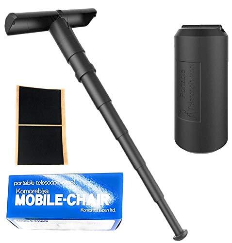 こもれび屋 NEW モバイルチェア 携帯イス スタンディングチェア 黒 軽量 コンパクト 行列待ち 立見席 OD03