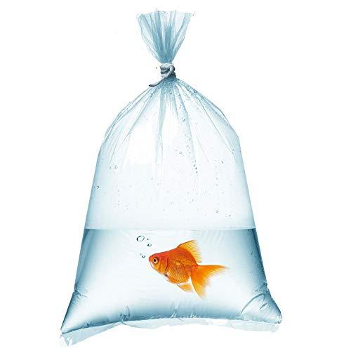 Lapwater Aquatics Ltd Transportbeutel für Fische, robust, Folienstärke 0,3mm, 53 x 25cm, 25 Stück