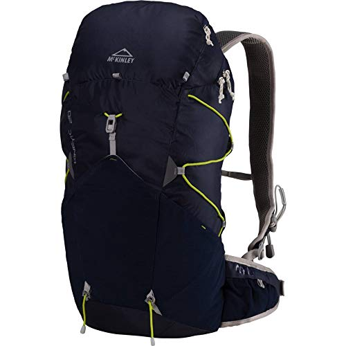 McKINLEY Kinetic Rucksack, Navy Dark/Lime, 54x23 x 15 cm