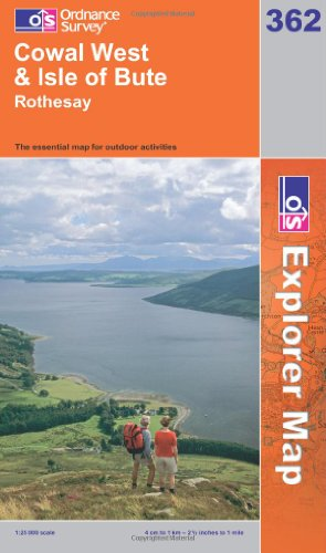 OS Explorer map 362 : Cowal West & Isle of Bute