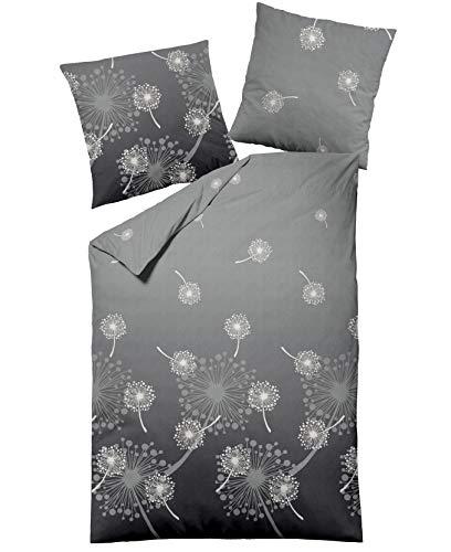 Dormisette *Pusteblume* Biber Fein-Biber Bettwäsche mit Reißverschluss 135x200 80x80 (5212)