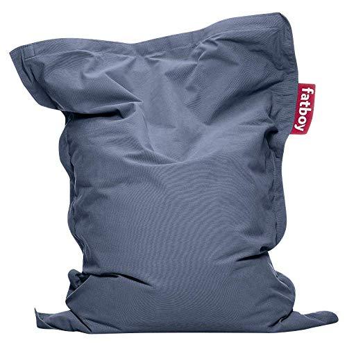 Fatboy® Junior Stonewashed blau | Original Baumwolle-Sitzsack | Klassisches Indoor Sitzkissen speziell für Kinder | 130 x 100 cm
