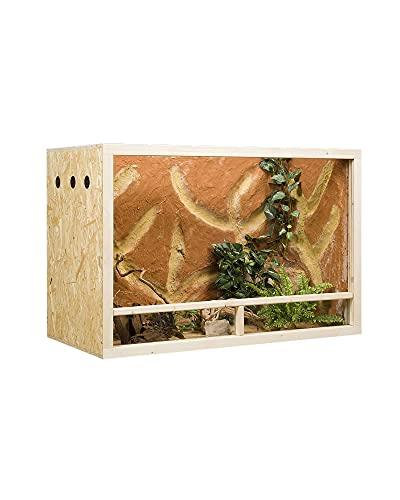 OSB Terrarium, Holzterrarium für Reptilien und Amphibien 150x60x80 cm mit Seitenbelüftung
