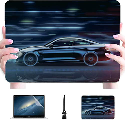 MacBook Pro Computer Case Race Car in Racing Car Track Plastic Hard Shell Compatible Mac Air 13' Pro 13'/16' 15 Inch Laptop Case Protective Cover for MacBook 2016-2020 Version
