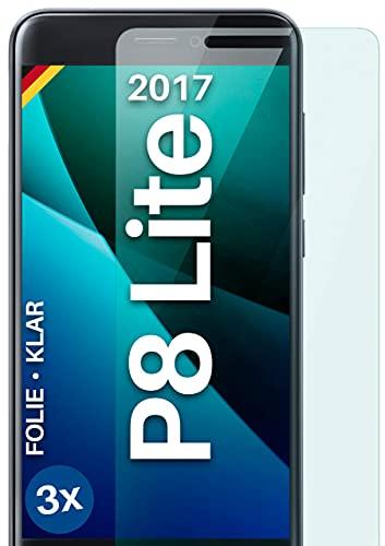 moex Protector de pantalla transparente compatible con Huawei P8 Lite 2015 – Protector de pantalla transparente, protector de pantalla HD, película fina resistente a los arañazos, 3 unidades