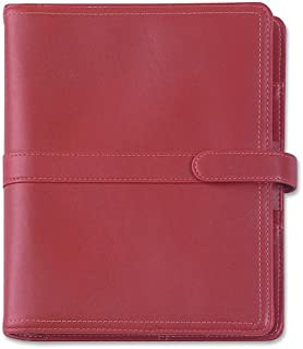 Day-Timer Simulated Leather Organizer, Magnetic Tab, Desk Size Planner, 5.5 x 8.5 Inches, Red (D44317)