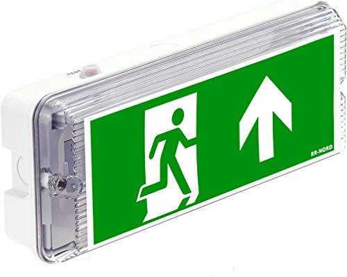 Notleuchte LED IP65 Notbeleuchtung Exit Notausgang Fluchtwegleuchte Notlicht Fluchtweg Rettungszeichenleuchte (Pfeil nach oben)