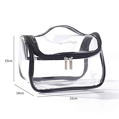 MYSdd Bolsa de cosméticos de Viaje Transparente Bolso de Moda Bolso de Almacenamiento de Lavado con Cremallera Almacenamiento de Maquillaje Belleza Caja de Maquillaje Impermeable - 3
