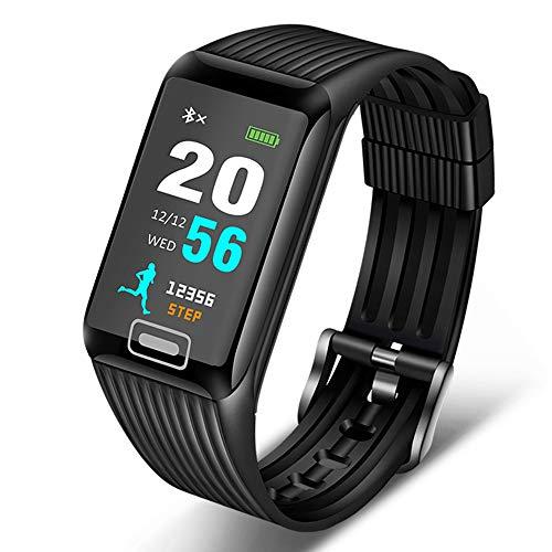 YUYLE Smartwatch, nieuwe smartwatch voor mannen en vrouwen, fitnesstracker met hartslagmonitor, bloeddrukmonitor, smart-armband voor iOS en Android, Blanco Y Gris