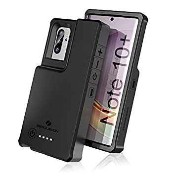 ZEROLEMON Galaxy Note 10 Plus Battery Case 10000mAh Fast Charging & Qi Wireless & Android Auto & Samsung Dex Supported ZeroShock Extended Battery Charger Protective Case for Galaxy Note 10+ Black