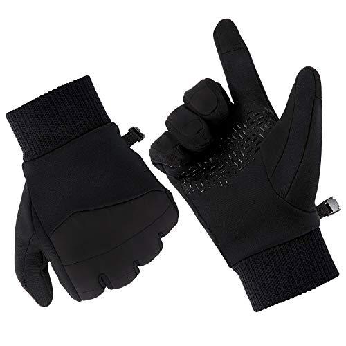 Fazitrip Los guantes de pantalla táctil para otoño e invierno, delgados y cómodos, para actividades al aire libre, como senderismo, correr, ciclismo, escalada y más. (antideslizante guantes, S)