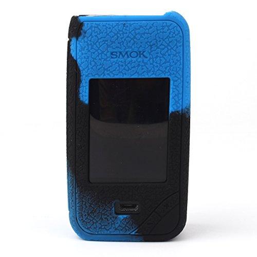 Smok X-priv case, CEOKS Protective Silicone case for Smok X priv 225W TC Mod Box Texture Case Rubber Cover Skin wrap Shield, Anti-Slip & Durable (Black/Blue)