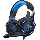 VersionTECH. ゲーミングヘッドセット ps4 ヘッドセット ゲーミング ヘッドホン ヘッドフォン ゲーム用ヘッドセット マイク付き ステレオゲーミングヘッドセット 騒音隔離 音量調整可能 forPS4 switch XBox one PCに対応 ブルー