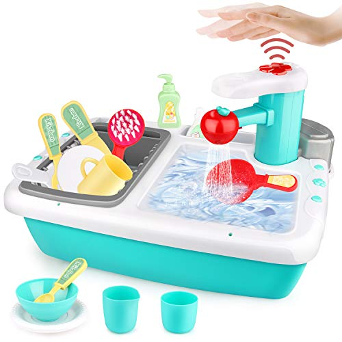 [Amazon] 50% Off Kitchen Sink Toys with Automatic Induction Water Cycle System (Includes Tableware Accessories) $10.99