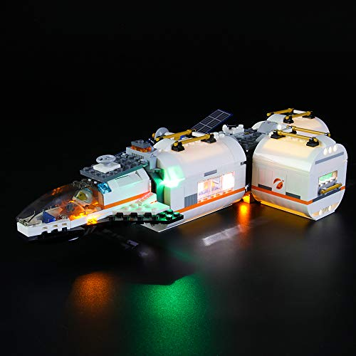 BRIKSMAX Led Lighting Kit for City Lunar Space Station - Compatible with Lego 60227 Building Blocks Model- Not Include The Lego Set