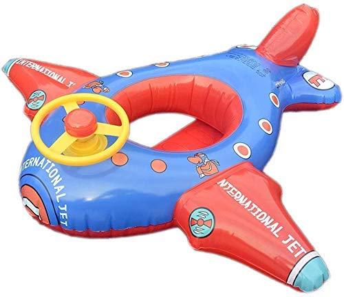 Zwembad, zwemring voor kinderen Opblaasbare zwemring Grote vliegtuigen Boot Stuurwiel Opblaasbare stoel