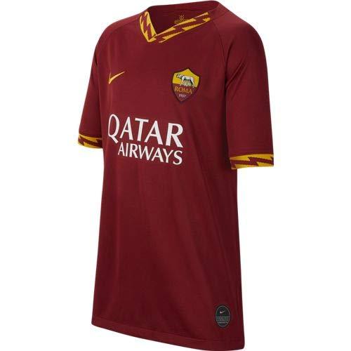 Nike Roma Y BRT Stad JSY SS HM Maglietta Sportiva Maniche Corte, Unisex Bambini, Team Crimson/(University Gold) (Full Sponsor), 10