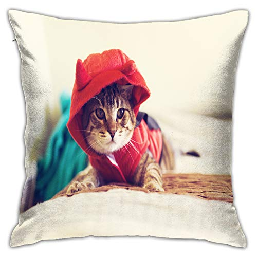 MZTYPLK Decorative Square Pillow Covers,halloween kitty,Pillowcases Cushion Cover Throw Home Decor for Sofa Car Bedroom (45x45cm)(1PCS)
