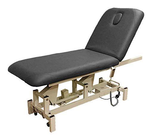 A1international® elektrisch verstellbare Kosmetikliege stationäre 2-Zonen Behandlungsliege 200x70cm Therapieliege Massageliege Ruheraumliege Behandlungsliege Elektrische Massageliege (white)