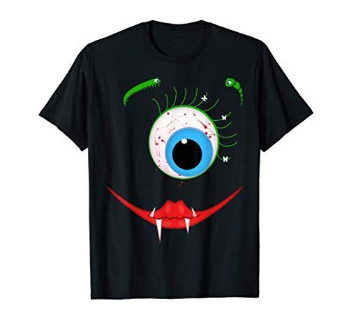 Aterrador Monstruo Chupasangre de un Solo Ojo Halloween Camiseta