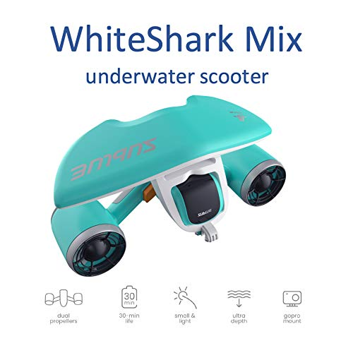 Sublue Elektrischer Unterwasserscooter WhiteShark Mix Tiefe 40 Meter Batterie 122 Wh Geschwindigkeit Betrieb 30 min Tauchen Strand Sommer Schnorcheln Urlaub Meer Freistil Erwachsener Eisblau 845391