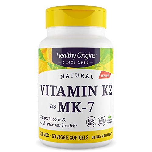 VITAMINA Healthy Origins Vitamin K-2 as MK-7 100mcg 60 VSoftgels