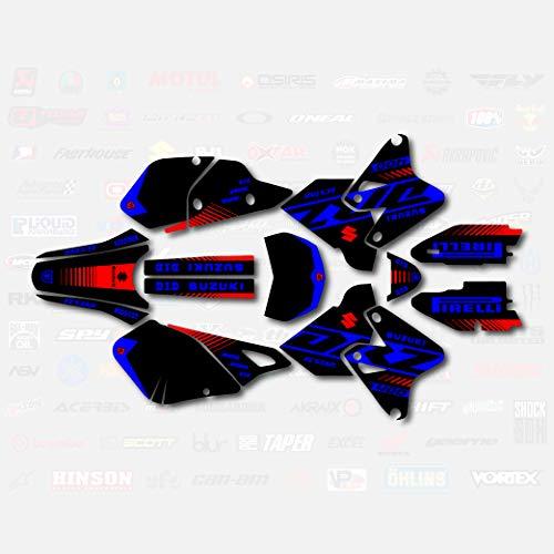 Black Blue Red Rise Racing Graphics Decal Kit fits Suzuki Drz400 Drz 400 Drz400sm 400sm