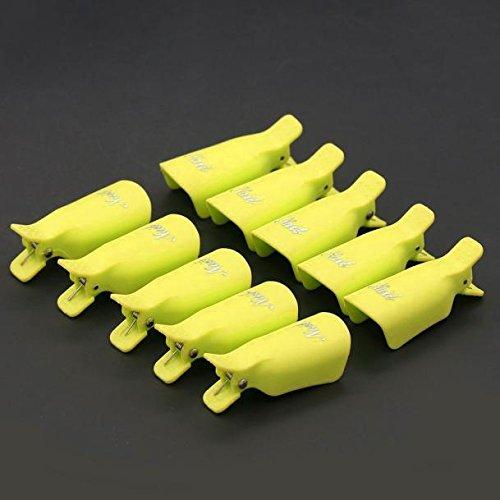 Yimart® 10 clips de plástico acrílico para uñas de gel UV, removedor de...