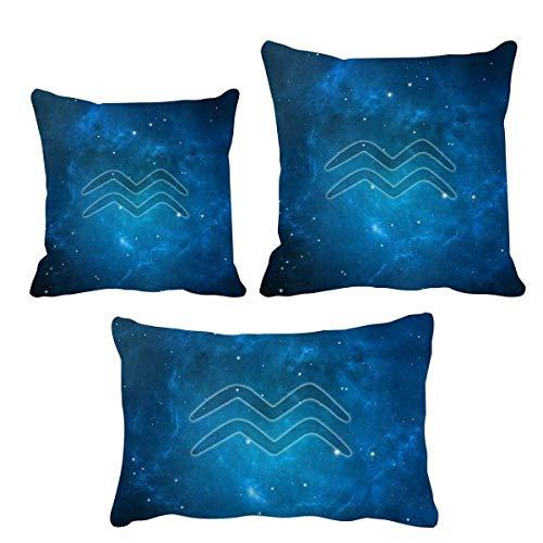 DIYthinker Sternsterne Nacht Aquarius Sternbild Werfen Kissen Set Einfügen Kissen Deckel Startseite Sofa Dekor Geschenk