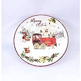 C.B.R. S.r.l. Plato hondo navideño de porcelana, 20 cm, ideal...
