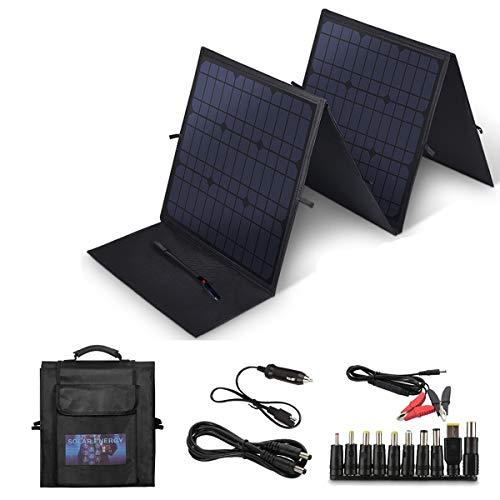 SARONIC Solar-Ladegerät, 100 W, faltbares Solarpanel mit 5 V USB 18 V, hocheffizientes Outdoor-Solarpanel für Laptop, Tablet, iPhone und andere Geräte