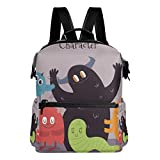 Mochila Mochila Mochila de Viaje Happy Cartoon Monster Book Bag Casual Travel Waterproof